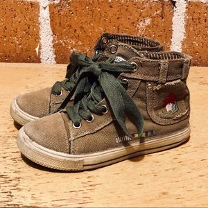 Naartjie Military style high tops size 10 toddler